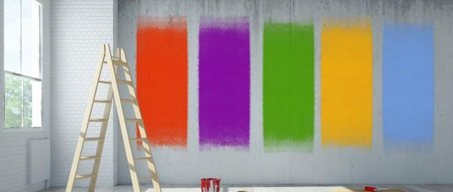 Farby do ścian łączenie kolorów